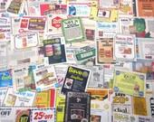 Vintage Grocery Coupon Ephemera Pack Set of 82