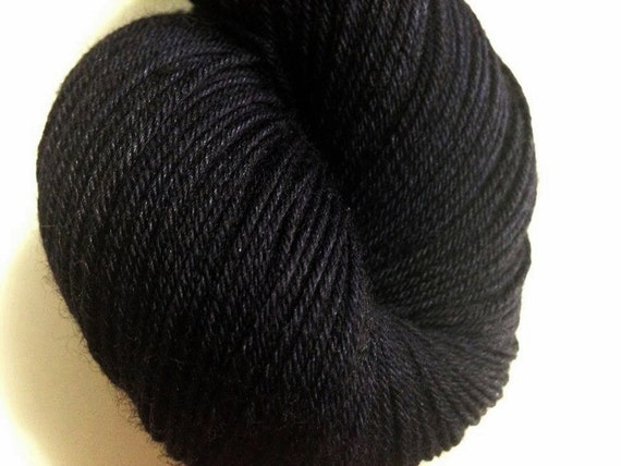 Midnight's Whisper - Dyed to Order - Hand Dyed - Merino Wool Yarn - Fingering Weight