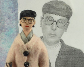 Edith Head Fashion Designer Doll Miniature Historical Collectible Women Who Design