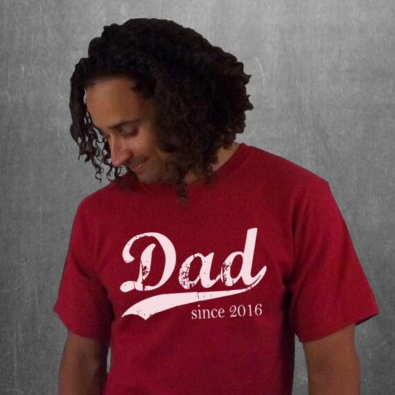 Dad since . custom mens t-shirt