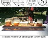 4 - 4 Glass Engraved Beer Samplers