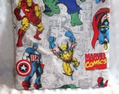 FREE SHIPPING Super Hero Reusable Sandwich Snack Bag