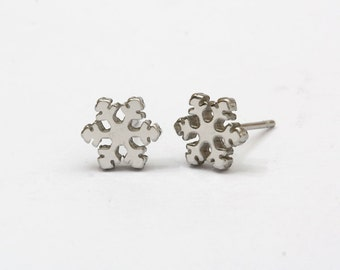 Snow Flower Stainless Steel Earring Post Finding (EE412A)