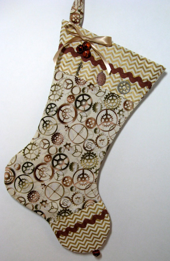 Whimsical Steampunk Christmas Stocking