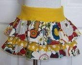 Girls  3 Tier Ruffled Skirt with Yoga Waistband