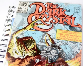 Dark Crystal Movie Journal & Sketchbook // Recycled Vintage Comic