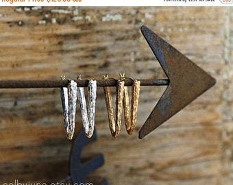 20% Off Sale Silver Triangle Hoops   Silver Earrings