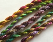 Bright and cheerful Vibrant colours Hand dyed thread collection