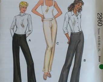 Kwik Sew Misses Pants Pattern 2960
