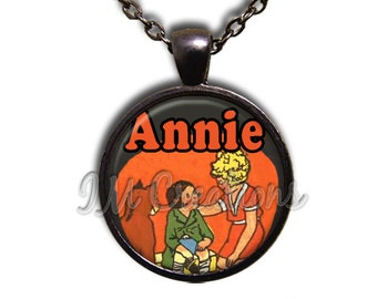 Annie Glass Dome Pendant or with Chain Link Necklace FT106