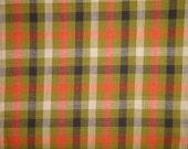 Homespun Fabric   Large Check Fabric   Primitive Cotton Fabric   Quilt Fabric   Home Decor Fabric   Apparel Fabric   Craft Fabric   1 Yard