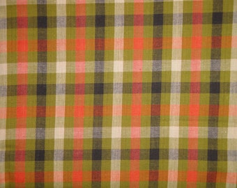 Homespun Fabric | Large Check Fabric | Primitive Cotton Fabric | Quilt Fabric | Home Decor Fabric | Apparel Fabric | Craft Fabric | 1 Yard