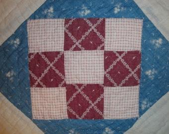 Antique Quilt Piece | Vintage Quilt Piece |  Old Quilt PIece |  Cutter Quilt Piece