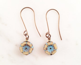 Turquoise Taupe Earrings