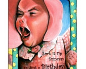 Crybaby Girl  Birthday Card By Philo