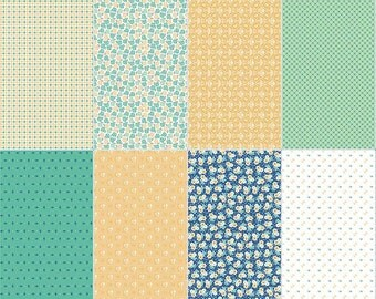 30% OFF Calico Days Fat Eighth Panel Mint