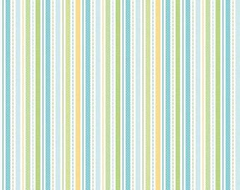 SALE Snips and Snails Multi Stripes - 1/2 Yard