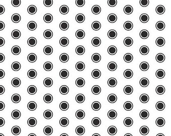 SALE Evening Blooms White Dots  - 1/2 Yard