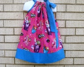 Hot Pink Shopkins Pillowcase dress in sizes 6M to  8Y