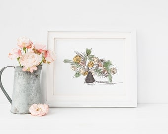 PRE-ORDER Muted Floral Arrangement 2 Art Print