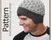 Back Roads roads Beanie - Crochet Pattern (PDF) - INSTANT DOWNLOAD