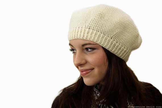 CROCHET PATTERN - Honey Bee Beret - Instant Download (PDF)