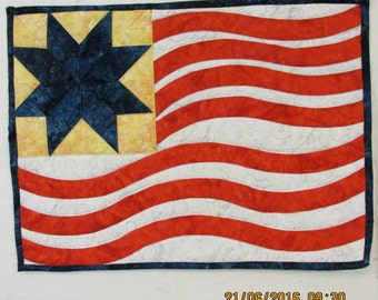 Old Glory Waves wallhangingREDUCED