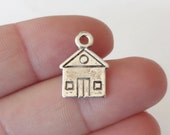 10 House Charms 16.5x13x1mm (double sided) ITEM:V15