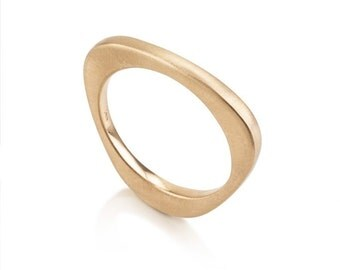 Helena Ring, 14k solid gold, modern wedding ring, unique wedding bands for women, minimalist wedding ring, thin wedding band, wedding ring
