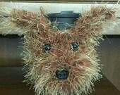 Crochet // Yorkie  // Yorkshire Terrier // Dog // Coffee Cozy // Water Bottle Cozy // Handmade