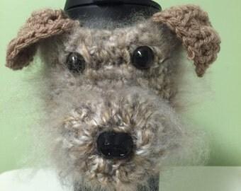 Crochet // Terrier / Cairn Terrier // Dog // Coffee Cozy // Water Bottle Cozy // Handmade