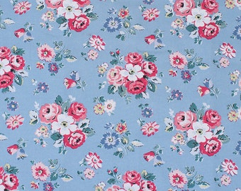 4206 - Cath Kidston Forest Bunch (Light Blue) Cotton Canvas Fabric - 57 Inch (Width) x 1/2 Yard (Length)