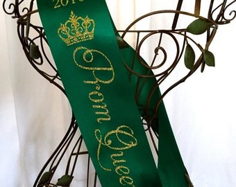 Prom Queen Sash - Gold or Silver