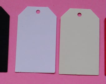 50 plain swing tags,gift tags, hang tags, straight edge,party gift baby shower wedding favors 2.1/4 inches x 1.1/4hand made