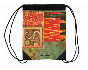 Drawstring Backpack,Cinch Bag,Bag Tribal,Supplies for Back to School,Art Student Gifts,Festival Bag,Going Off to College Gift,Cinch Sack