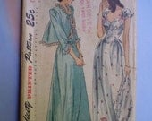 Vintage 40s Nightgown & Bed Jacket Pattern Uncut 34 (No Instructions)