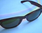 RESERVED FOR Reid Mobley Vintage 80s Ray-Ban Wayfarer B&L 5024 Brown Sunglasses