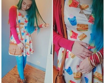 Junk Food Dress, Bearburger Dress, French Fries Dress, Milkshake Dress