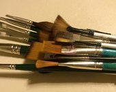 Reserved for Holly ...Paint Brushes Supplies Painting - Excellent Condition Some Never Used