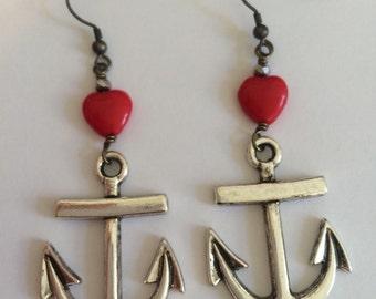 Anchored Love Earings