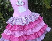 Made to Order Marie Aristocats Pink Disney Ruffle Dress Girl Size 2 3 4 5 6 7 or 8