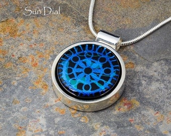 Fused Glass Pendant by BluDragonfly SRA - Sundial