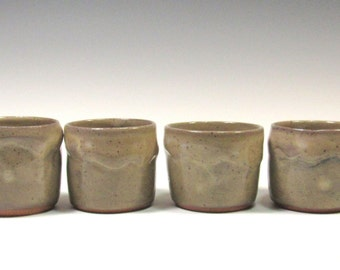 whiskey cups set - Ceramic Whiskey Cups - Rocks Cups - Sake Cups - tea cups - Shot Glass - Wine Cup - votive candleholder - toothpick holder