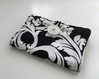 Card Keeper in Black and White Elegance