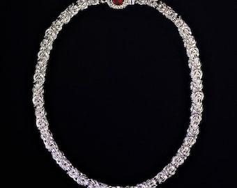 Sterling Silver Byzantine Necklace