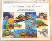 Wall Calendar 2017 Hawaiian Turtles of Kauai by artist Marionette Taboniar Sea Turtles Hawaiian Honu