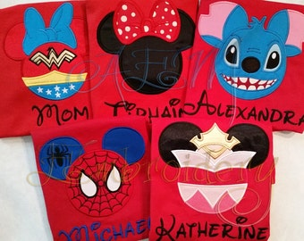 5+ Custom Disney Vacation Unisex ADULT or KIDS unisex Shirts with Character & Name ONLY  (6 weeks until shipped)