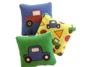 KIT - Dollhouse Pillow Fabric - Cars and Trucks - 1/12th Scale