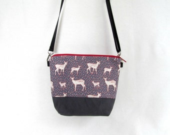 ADELE Day Bag // Cross Body Bag // Hip Bag // Small Zippered Purse // ADELE Mini // Deer