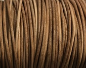 2mm Natural Round Leather Cord Natural Dye 2 yards for Wrap Bracelets Macrame Knotting Jewelry